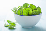 baby spinach leaves in bowl