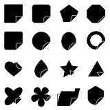 Set of corner lebel icons