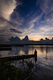 silhouette River in Thailand