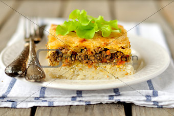 Rice and Minced Meat Bake