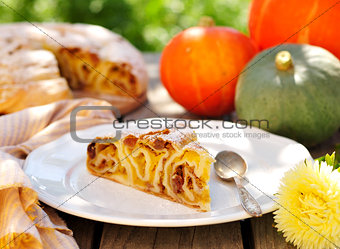 A Piece of Pumpkin Vertuta,  traditional Moldavian and Romanian