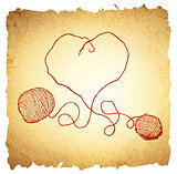 Knitting Vintage Heart