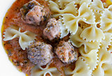 meatballs and pasta
