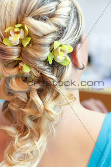 Beautiful wedding hairstyle - rear view