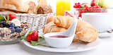 traditional french breakfast croissant isolated