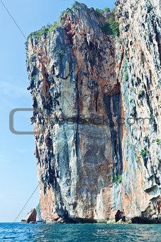 Beautiful rock in  Phi Phi Ley