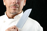 Chef Displays Knife
