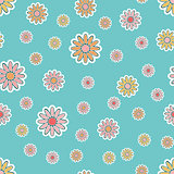 Old-fashioned floral vector pattern