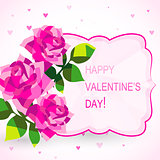 Valentine's day card with beautiful flowers