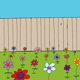 Cute Flowers Near Fence