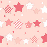 Cute Star Seamless Pattern Background Vector Illustration