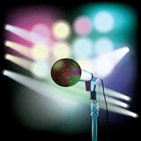 abstract background with microphone on music stage