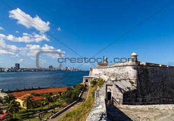 Cuba Havana skyline and historic fortress