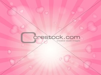 Abstract image with heart theme 2
