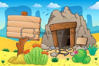 Desert with old mine theme 7