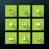 Vector flat web icon set