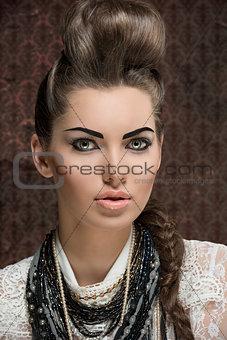 close-up female fashion portrait