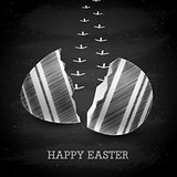 Happy Easter background - Chalkboard.