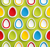 Easter background with eggs.