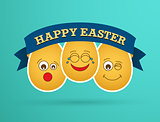 Funny Easter egg friends.