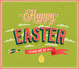 Happy Easter typographic design.