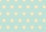 The Light Yellow Sun Pattern on Green Pastel Color