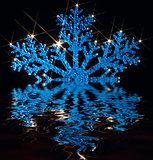 twinkling blue snowflake