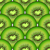 Sliced kiwi fruit. Design seamless colorful pattern