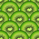 Sliced kiwi fruit. Design seamless colorful pattern