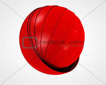 abstract red globe symbol, business concept