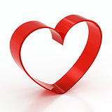 red glass heart-shaped