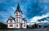 Icelandic church in the little town of Husavik