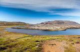 Selvallavatn, a vulcanic lake in Iceland.