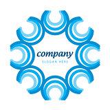 logo blue semicircles