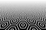 Hexagons textured  surface. Abstract geometric background. Illus