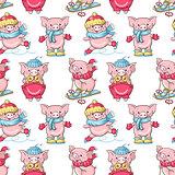 Cartoon pigs