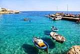 Fishing boats at Mediterranean sea