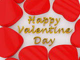 Red Heart Gold text Valentine s Day