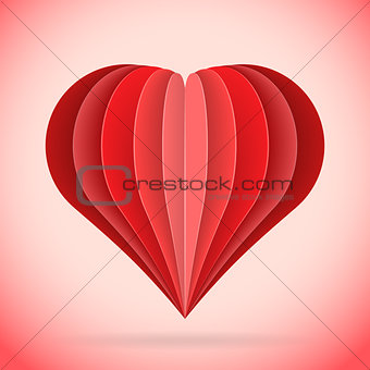 abstract paper heart illustration