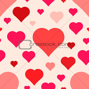 abstract seamless hearts pattern