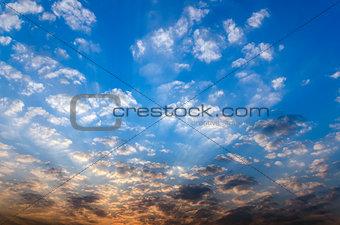Beautiful blue morning