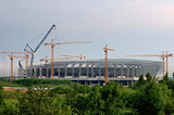 Lviv stadium construction, Ukraine