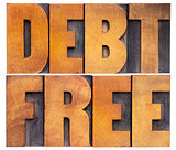debt free in wood type