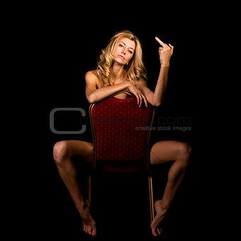 posing on black isolated background