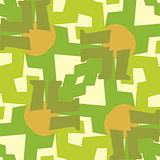 Green Leg Seamless Pattern