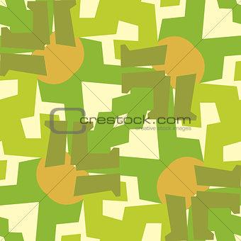 Green Leg Seamless Pattern
