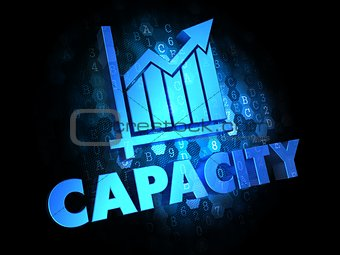 Capacity Concept on Dark Digital Background.