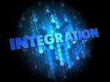 Integration on Dark Digital Background.