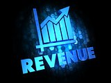 Revenue Concept on Dark Digital Background.