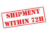 Shipment within 72h on Red Rubber Stamp.